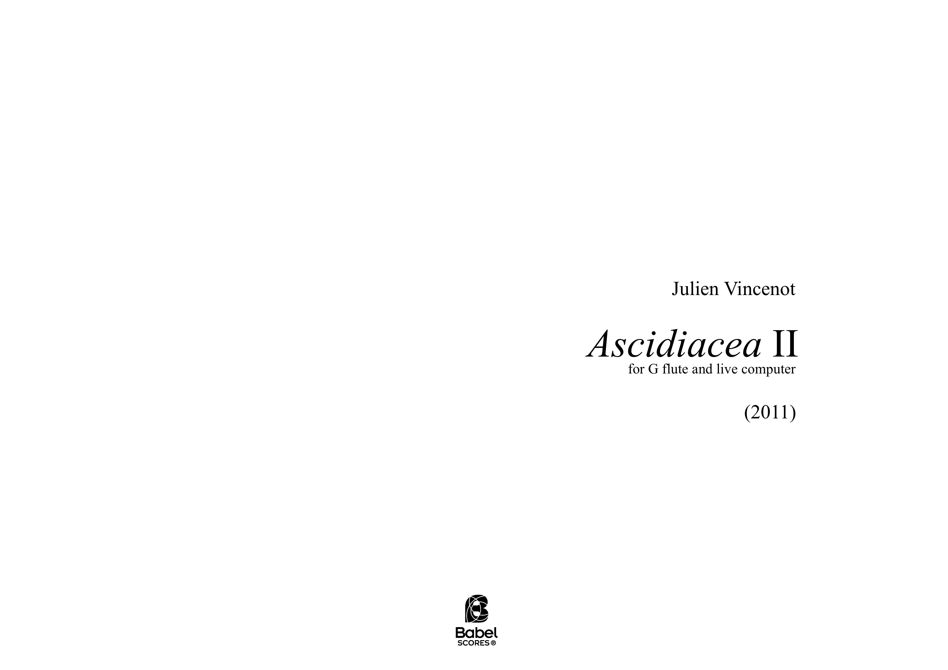 Ascidiacea II for alto flute and live computer A3z