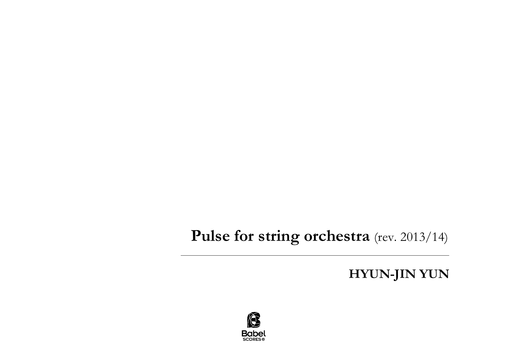 Pulse for String Orchestra A4 z 3 1 479