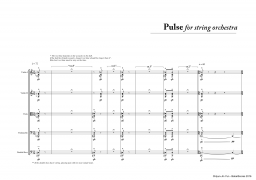 Pulse for String Orchestra A4 z 3 5 483
