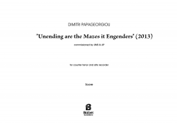 Undending are the Mazes it Engenders Dimitri Papageorgiou A3 z