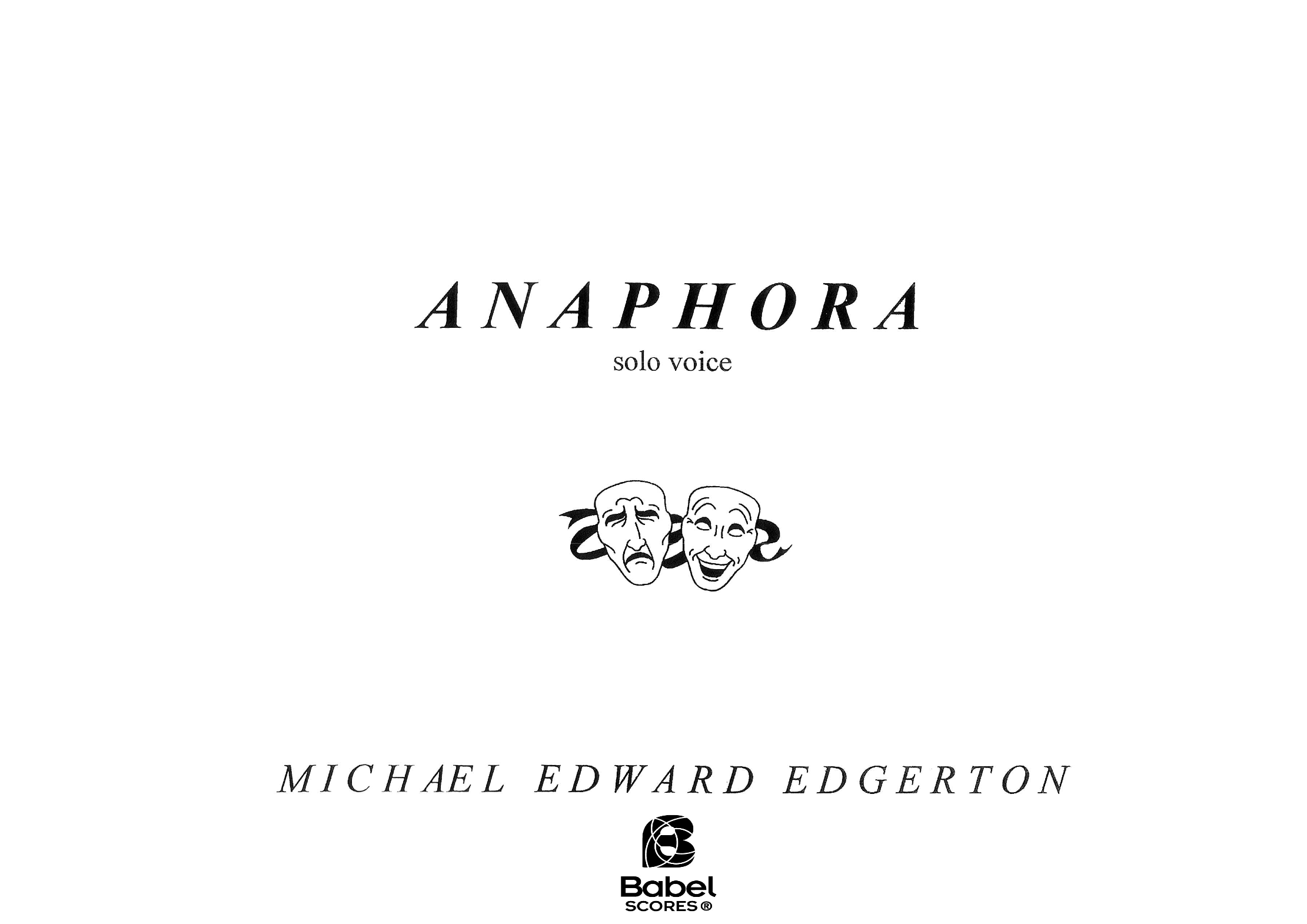 anaphora babelscores vocal music