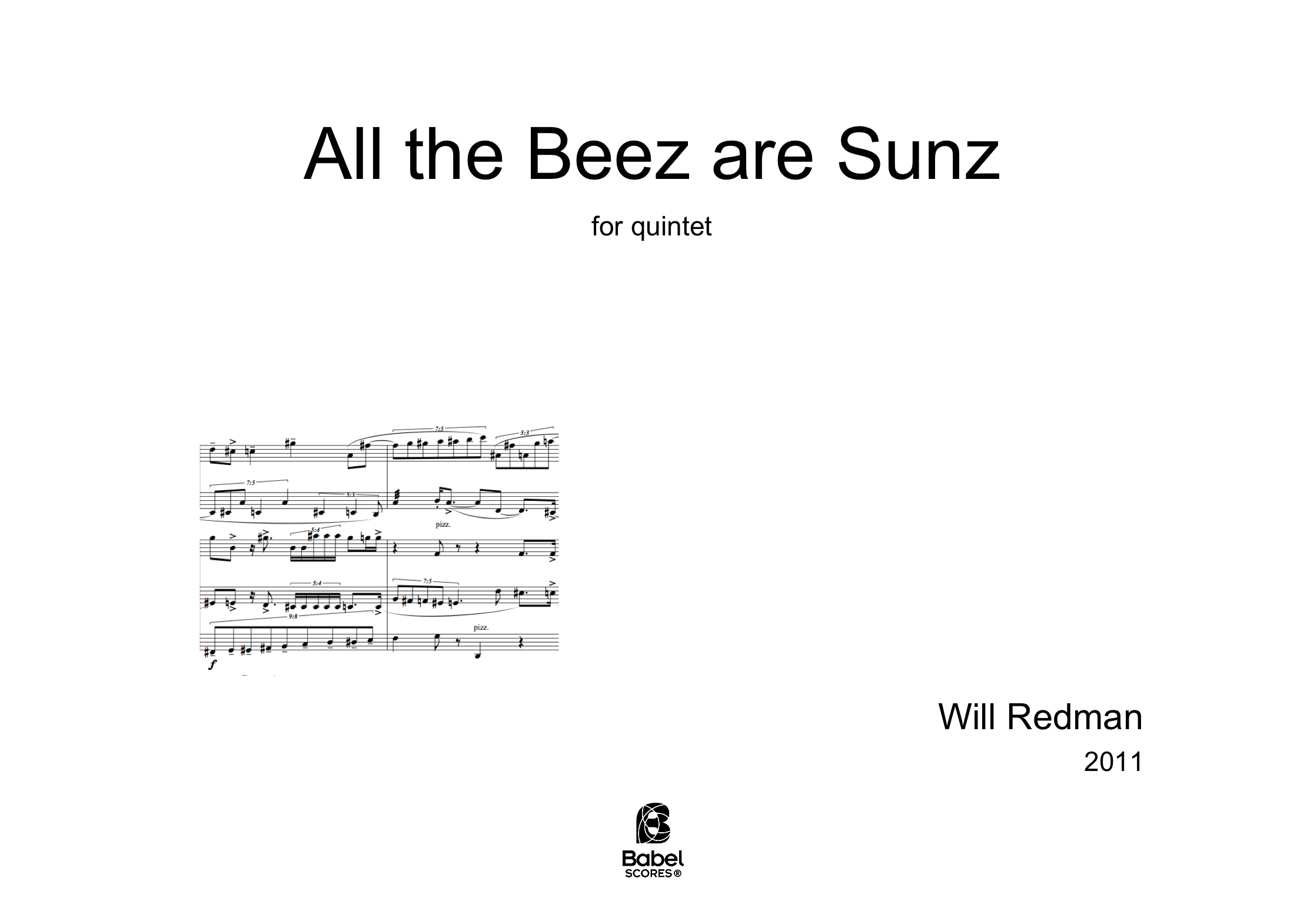All The Beez Are Sunz A4 z