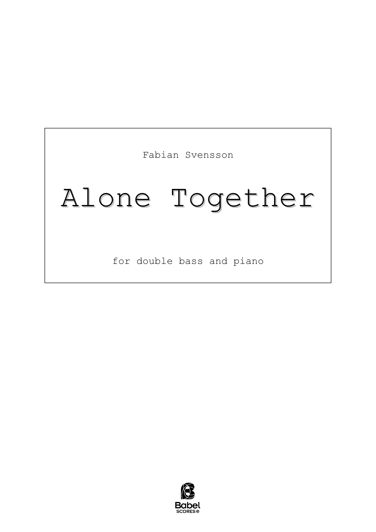 Alone Together A4 z 2 1 01
