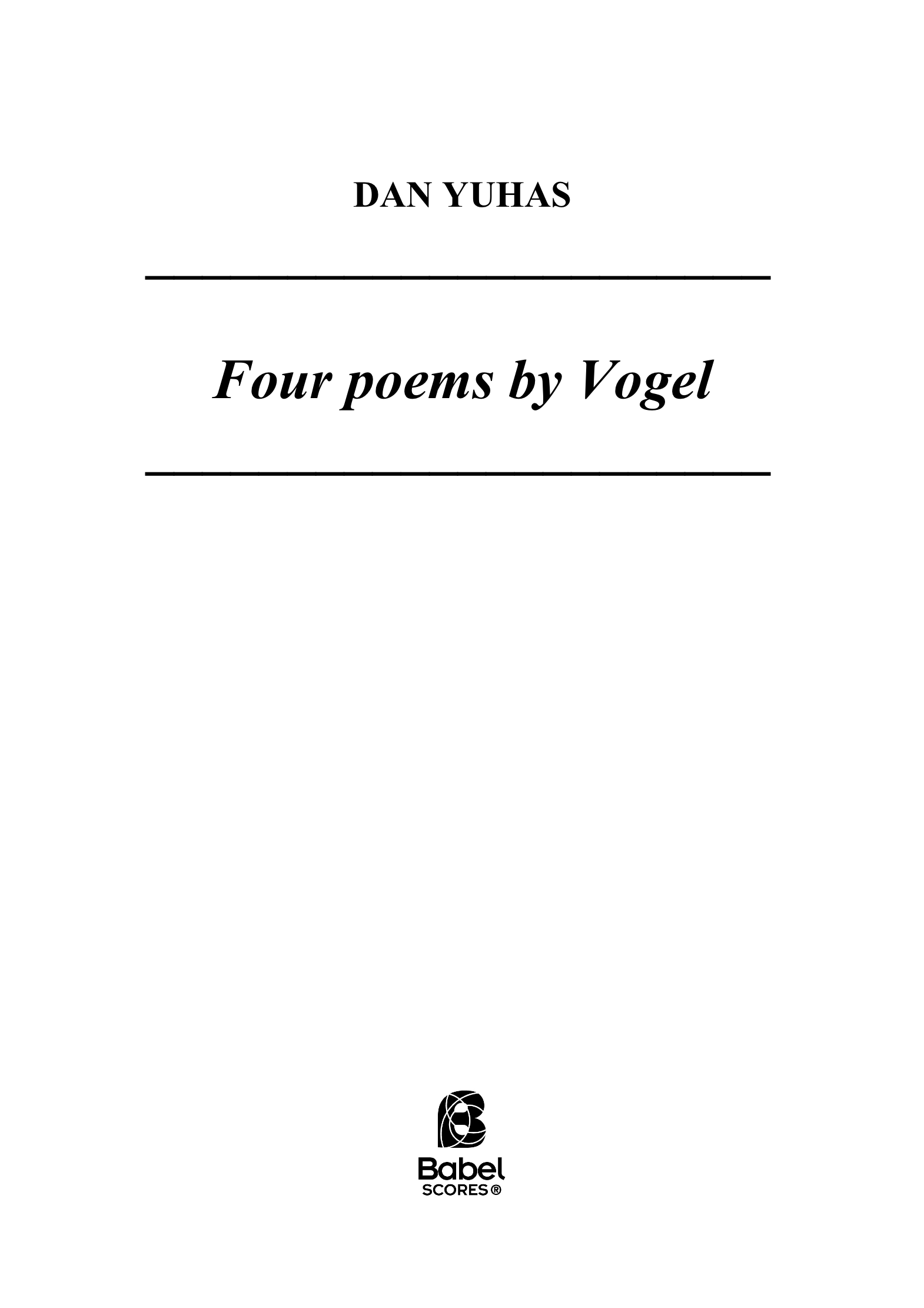 Dan Yuhas Four Poems by Vogel A4 z