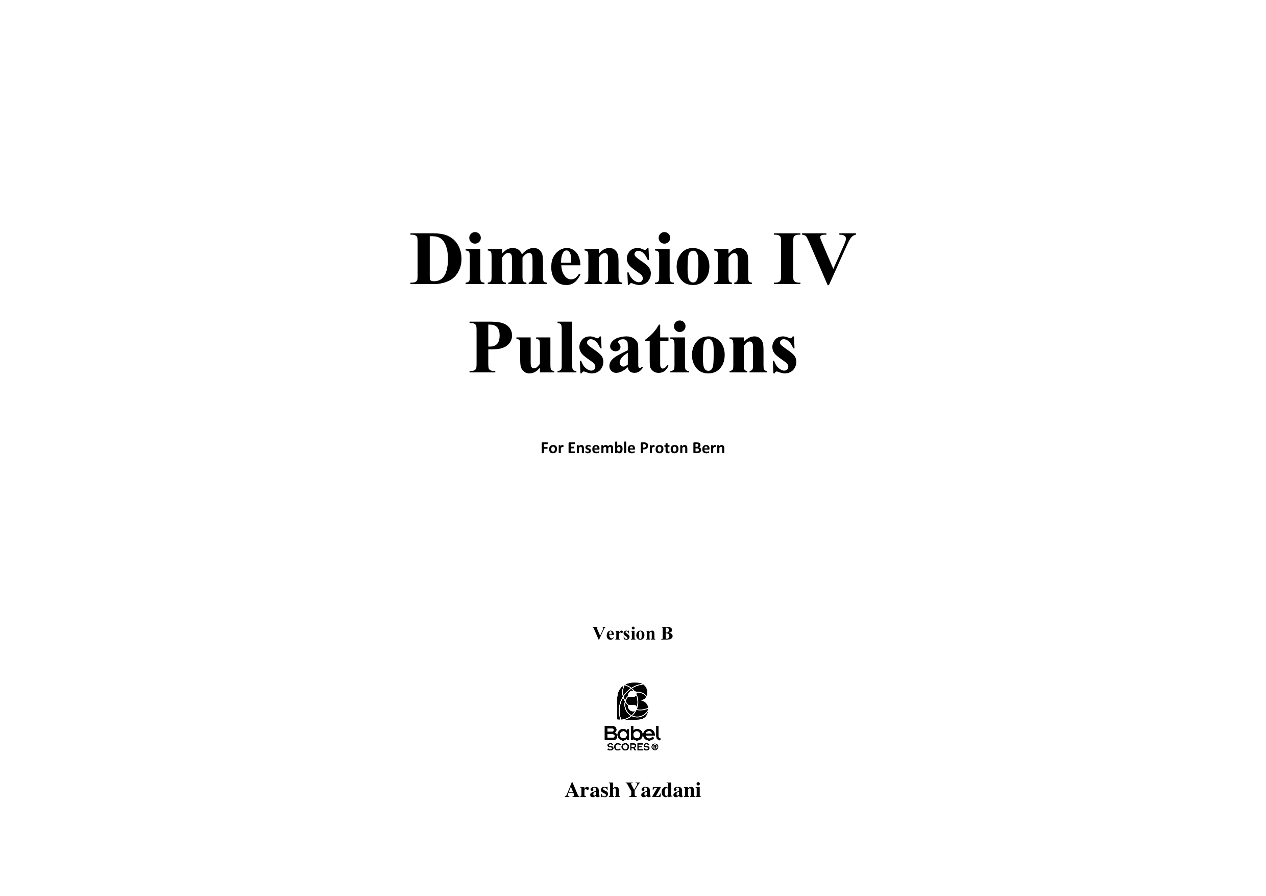 Dimension IV Version B A3 z 3 1 737