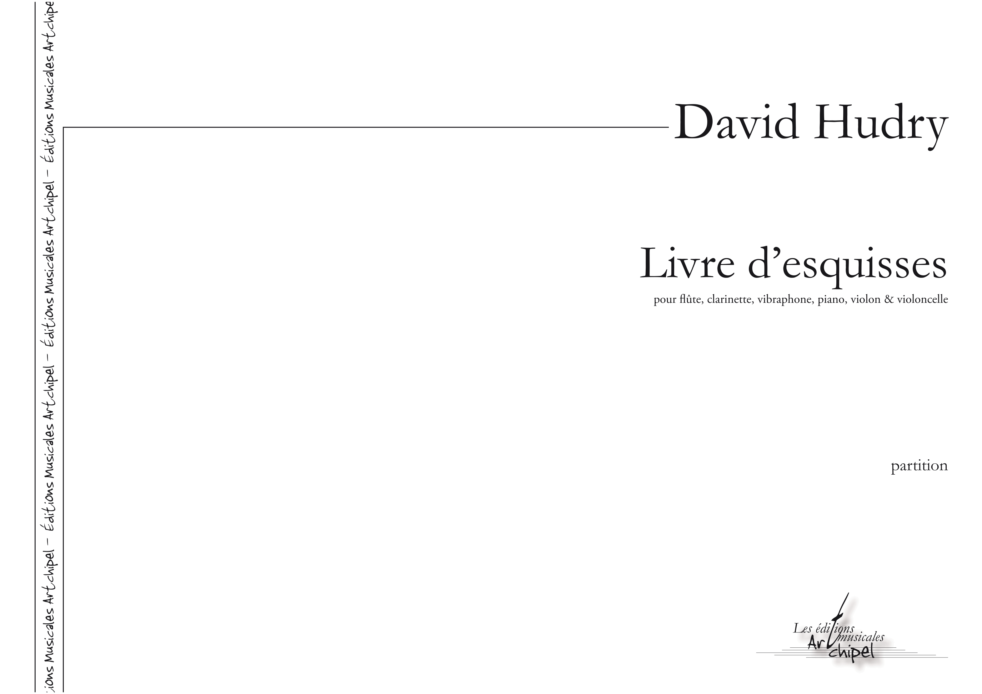 Livre d Esquisses HUDRY David A3 z