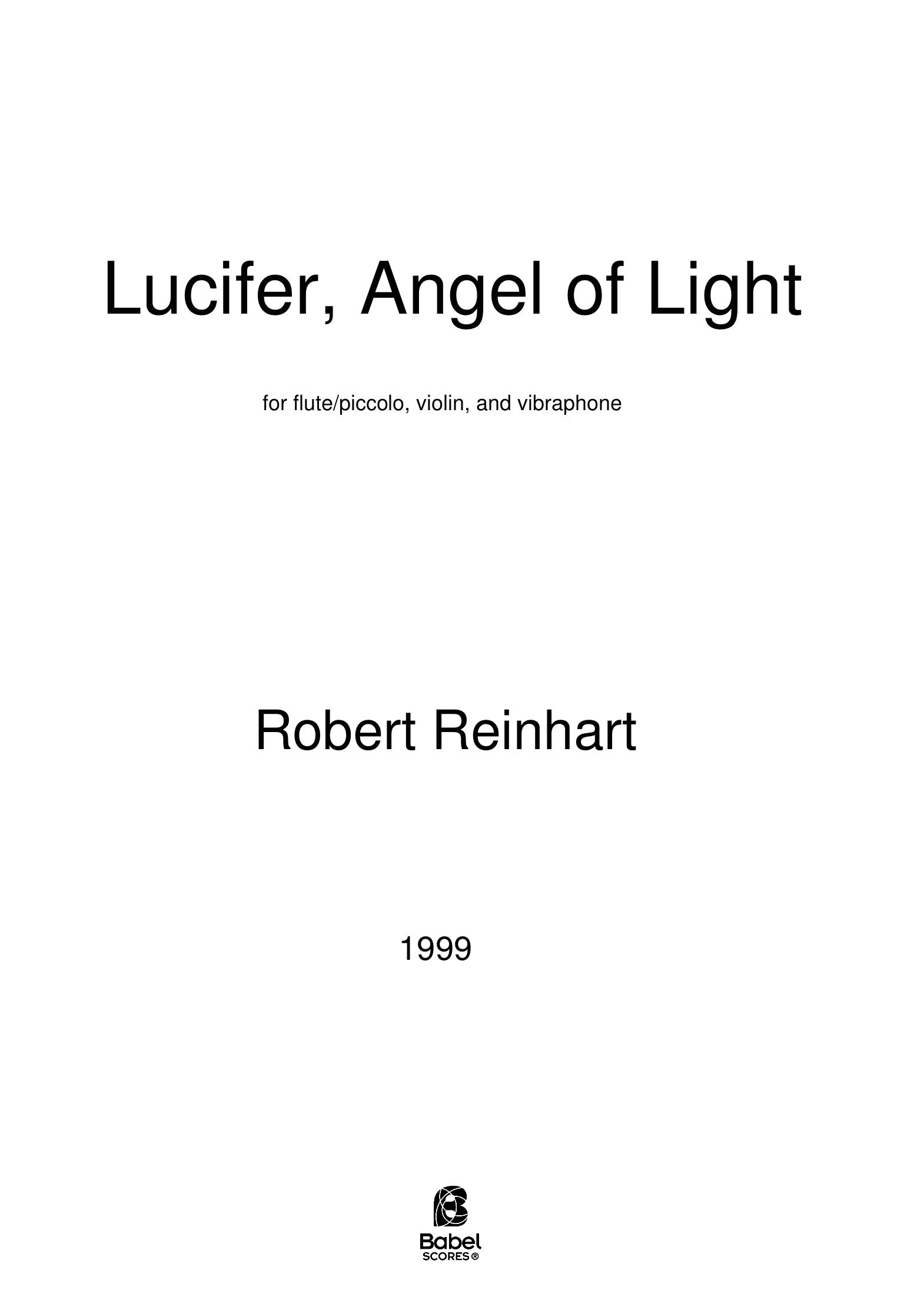 Lucifer Angel of Light BabelScores