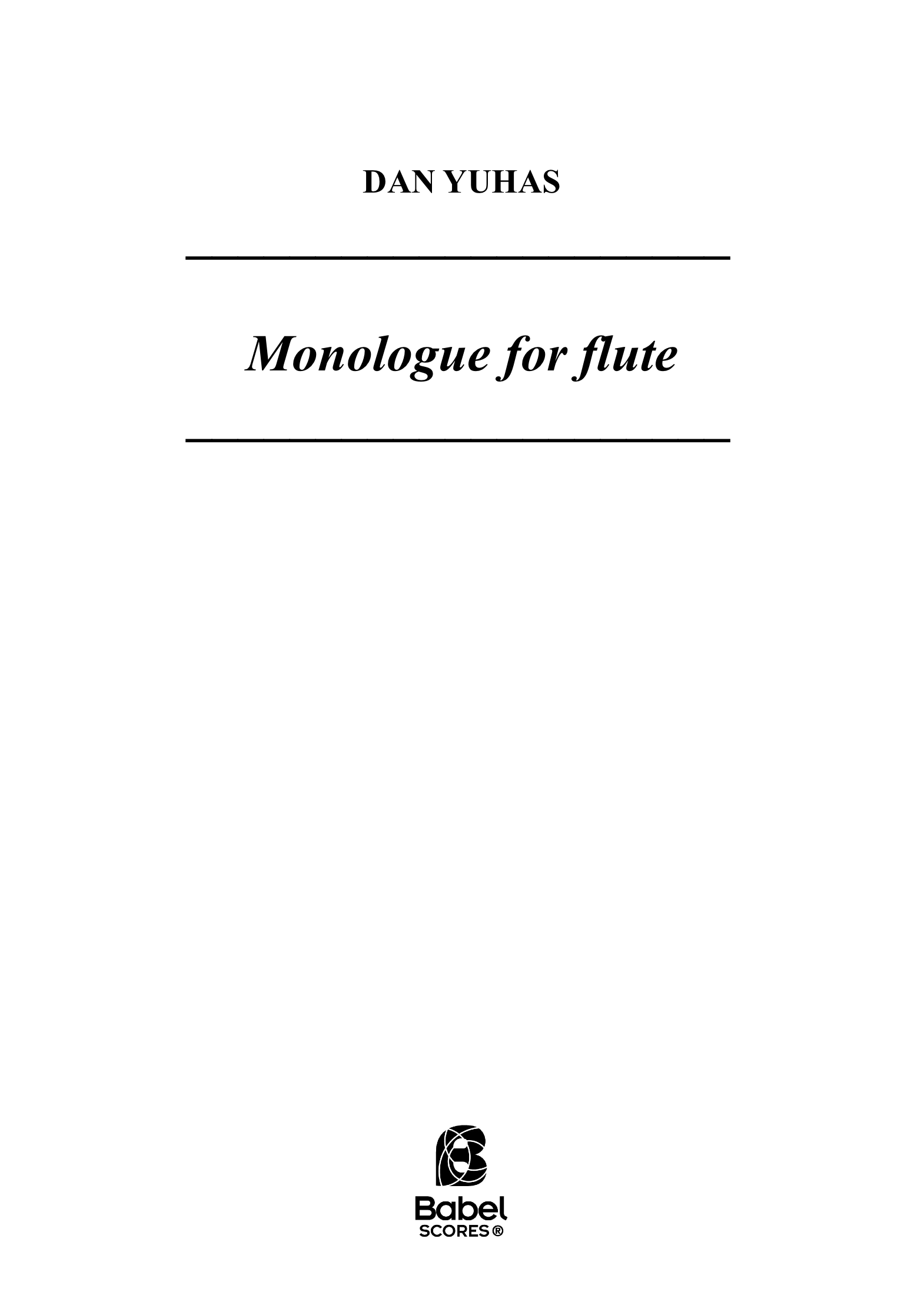 Monologue for flute A4 z