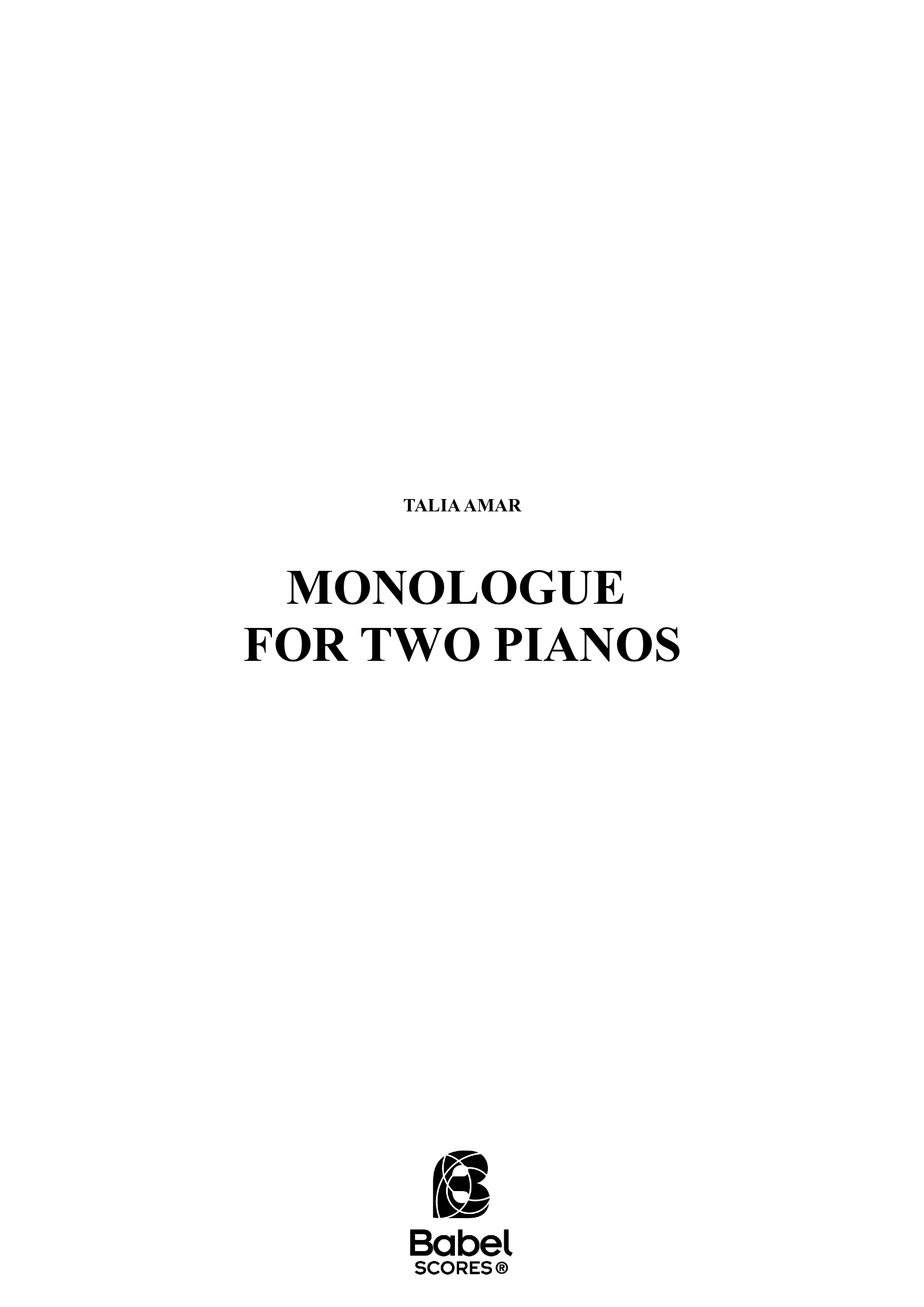 Monologue for two pianos z