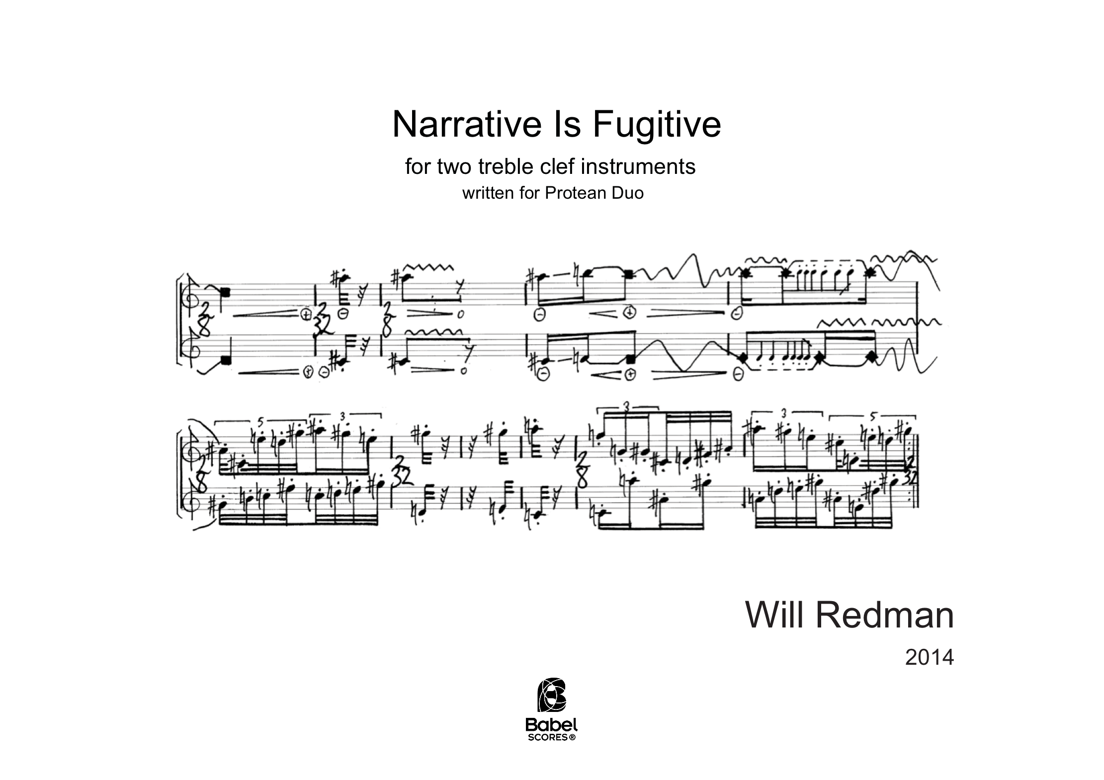 Narrative Is Fugitive A4 z