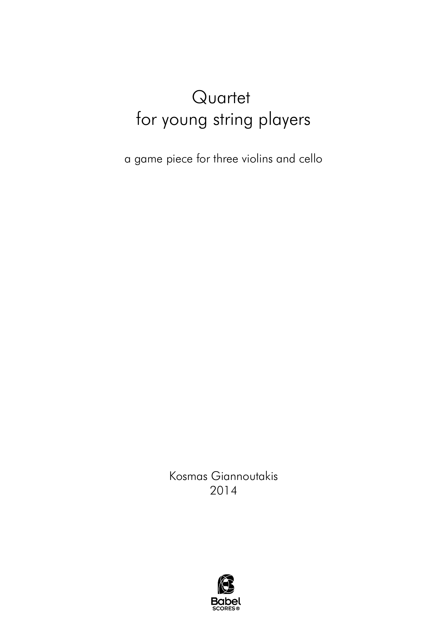 Quartet for young string players A4 z