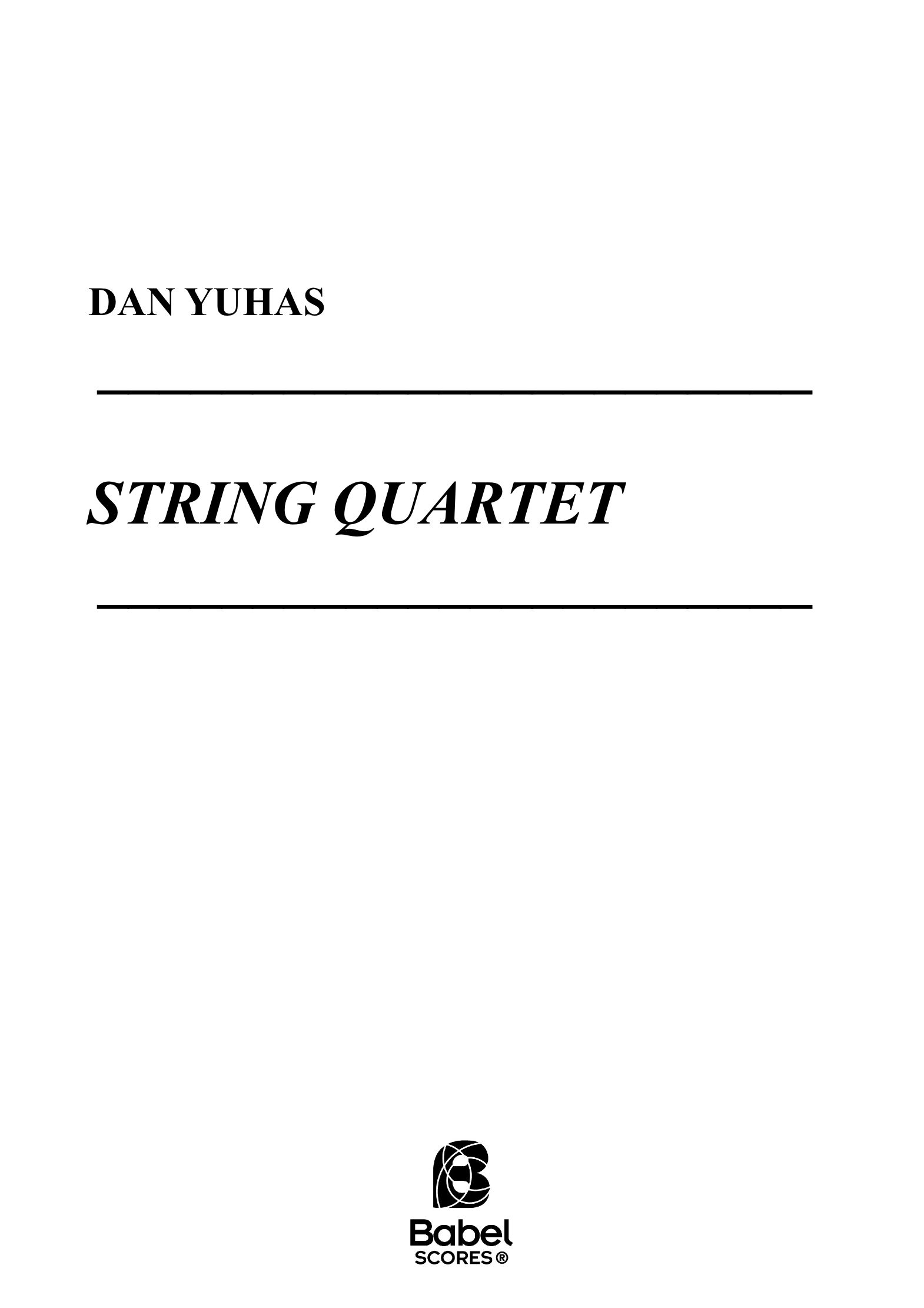 String Quartet A4 z