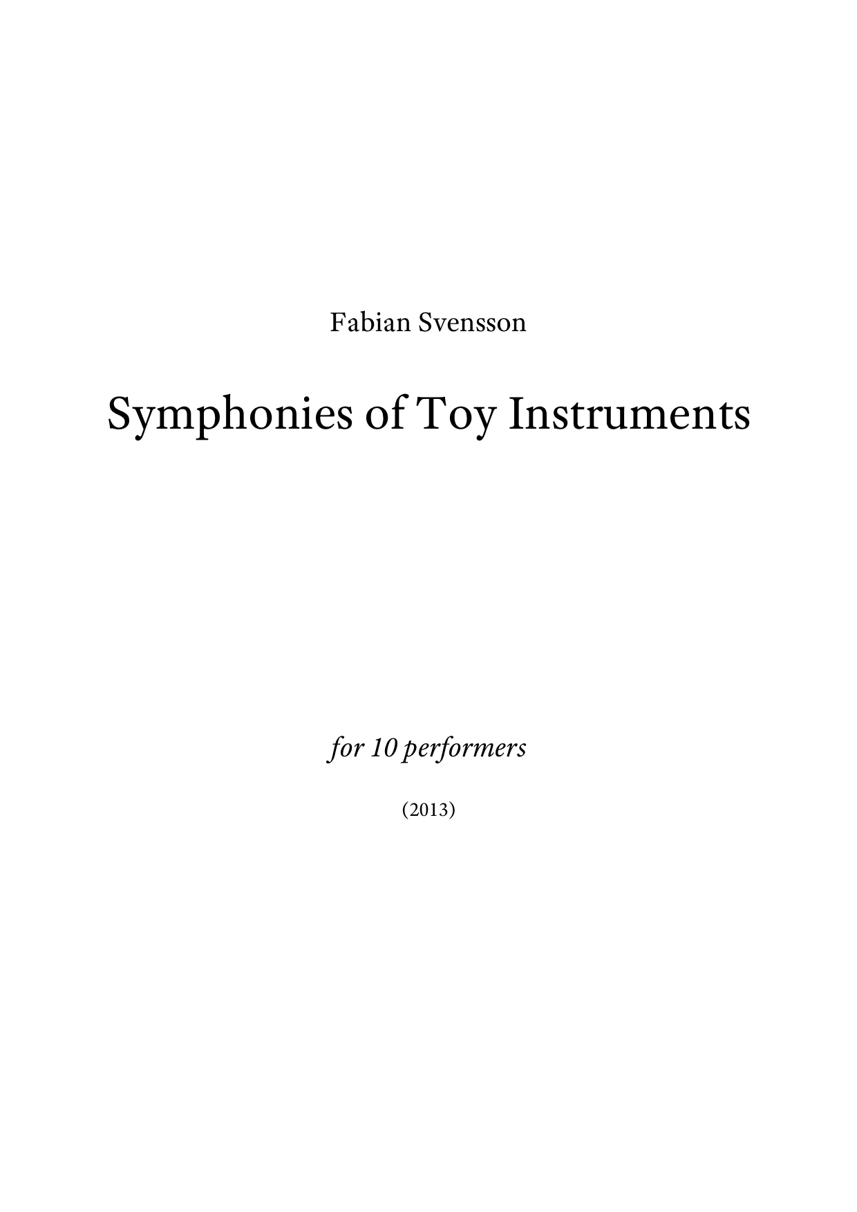 Symphonies of Toy Instruments A4 z 2 1 173