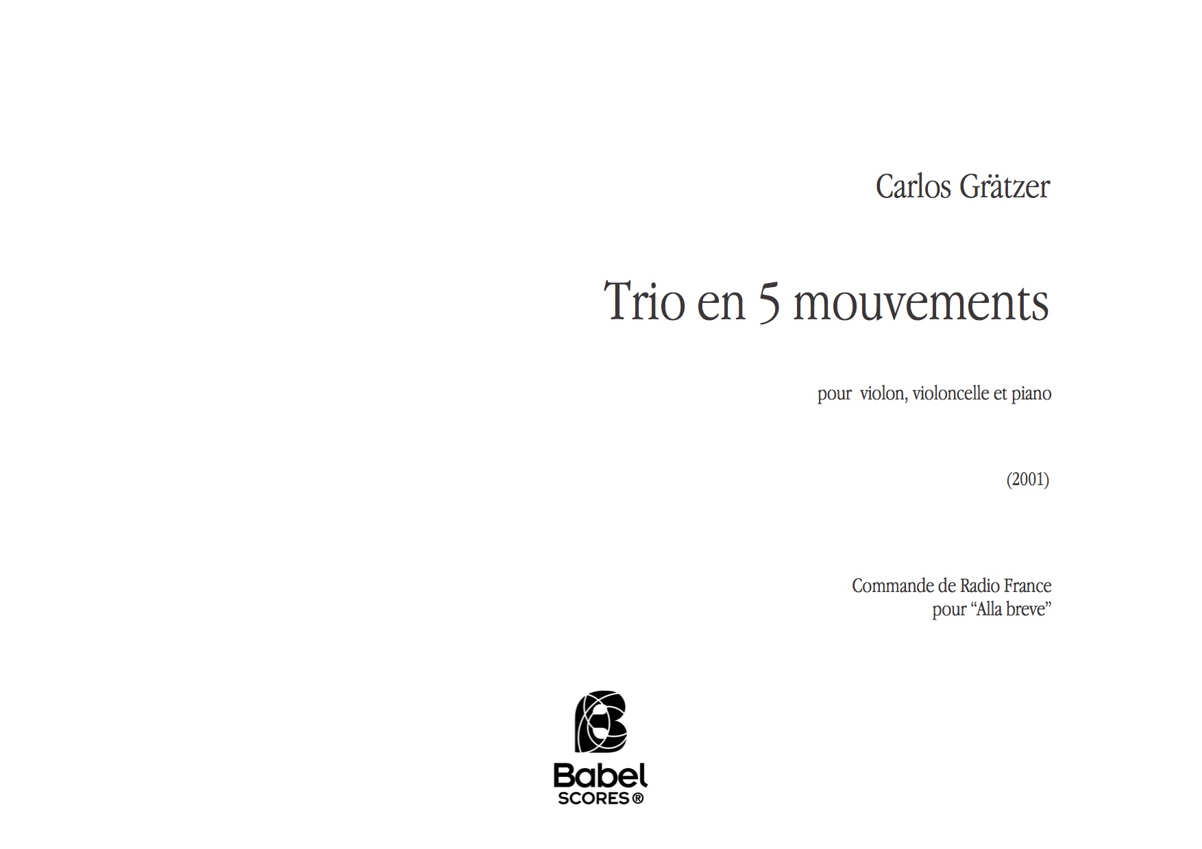 Trio en cinq mouvements