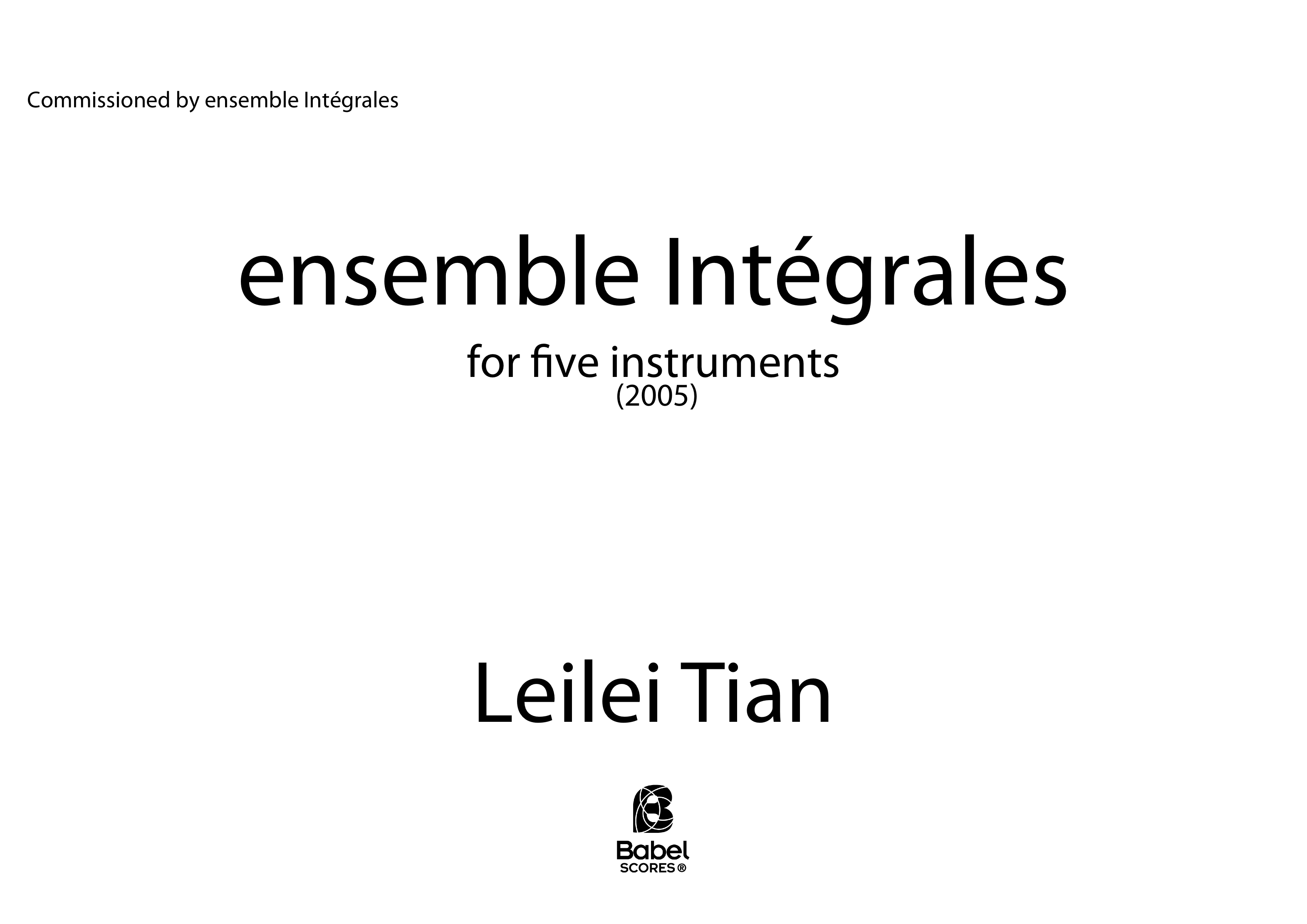 ensemble Integrales score z