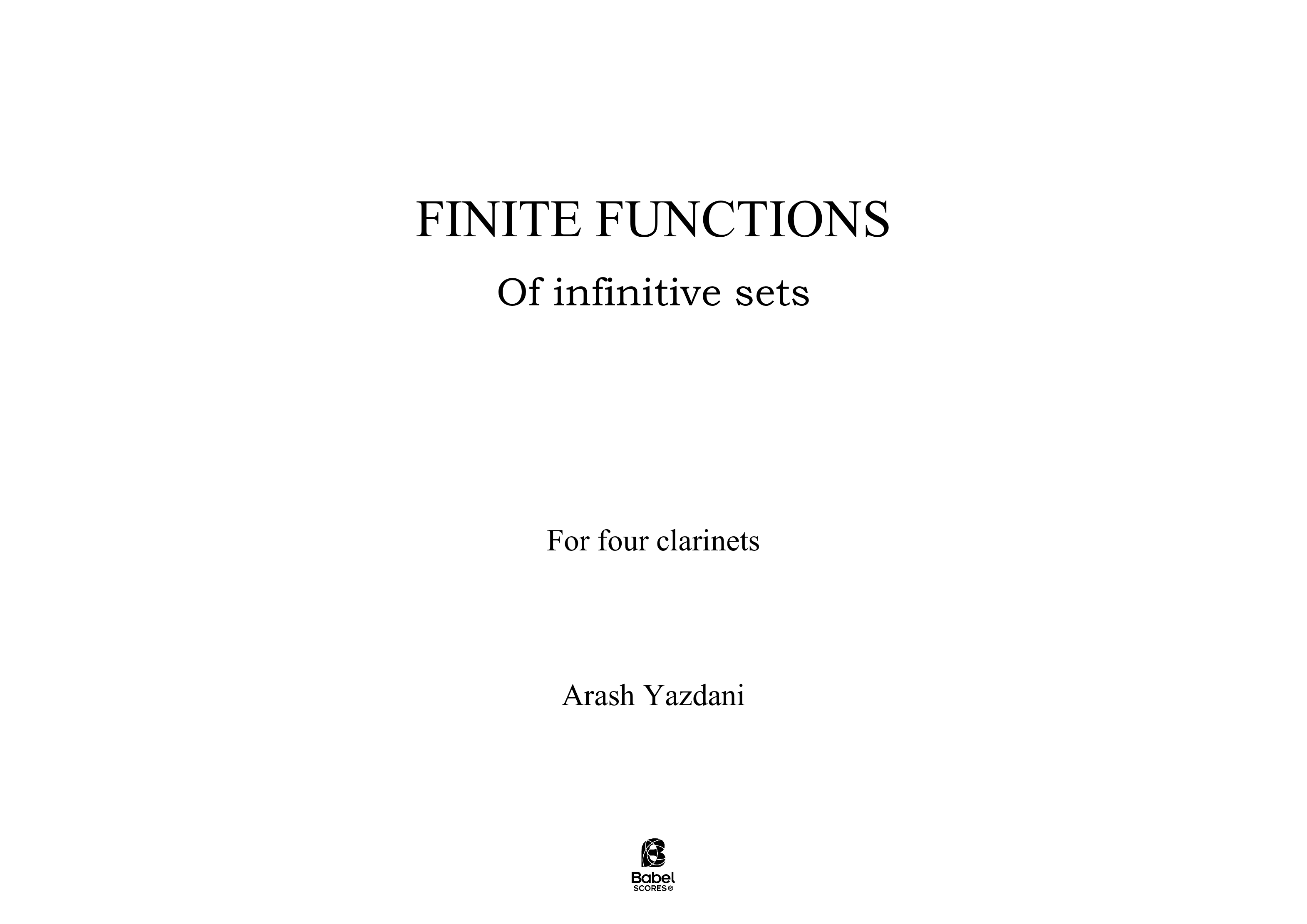 finite functions of infinitive sets A3 z