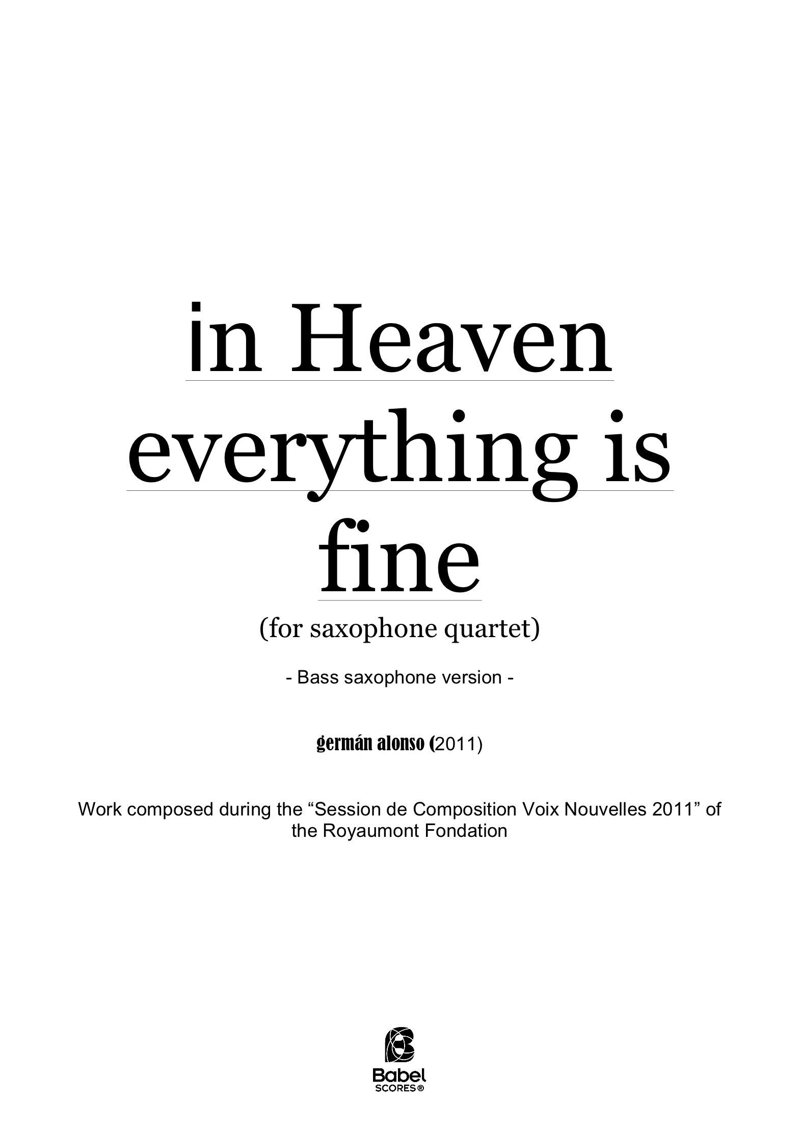 in heaven everything is fine A4 z