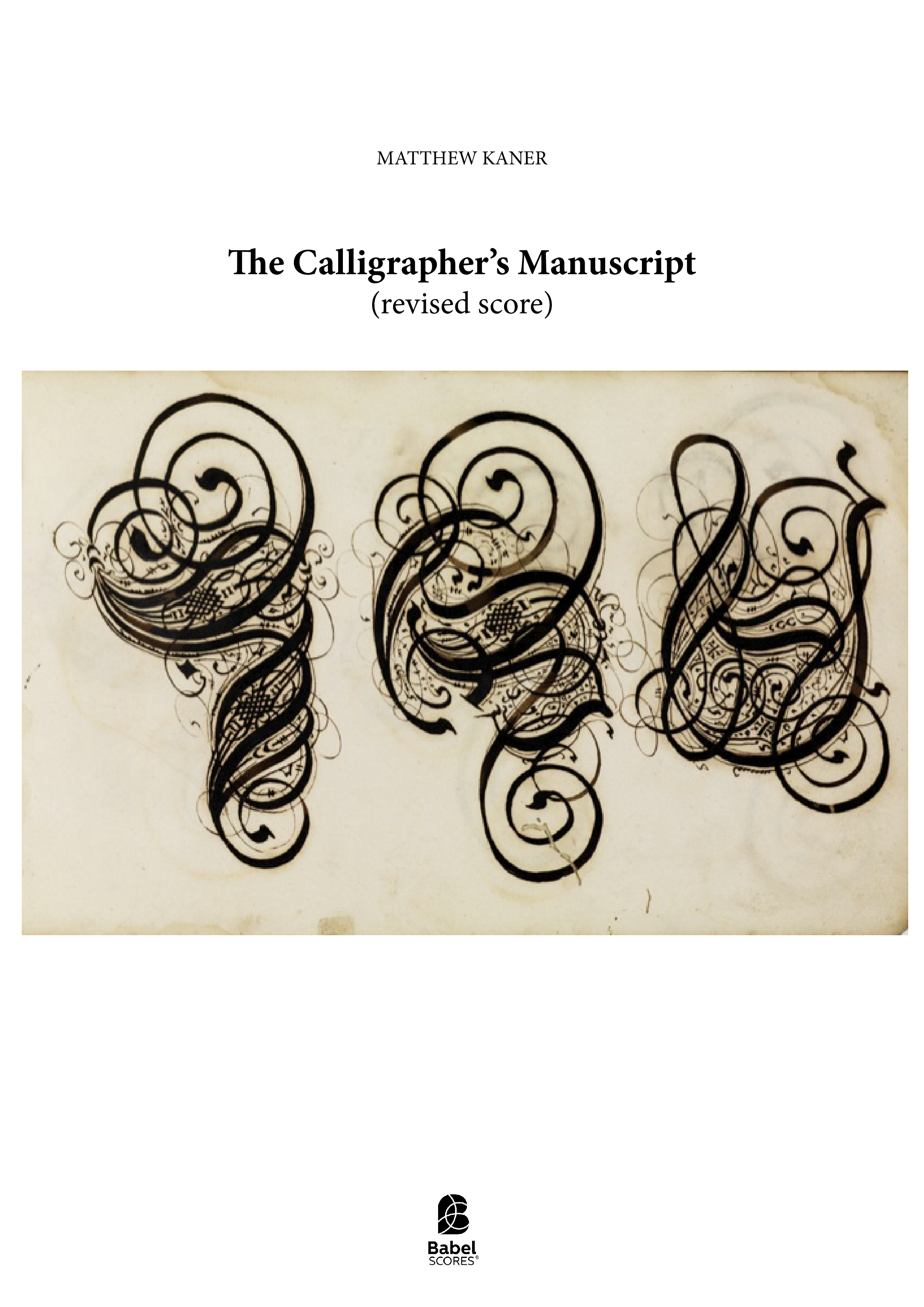 The Calligrapher s Manuscript revised A3 z 2 1 275
