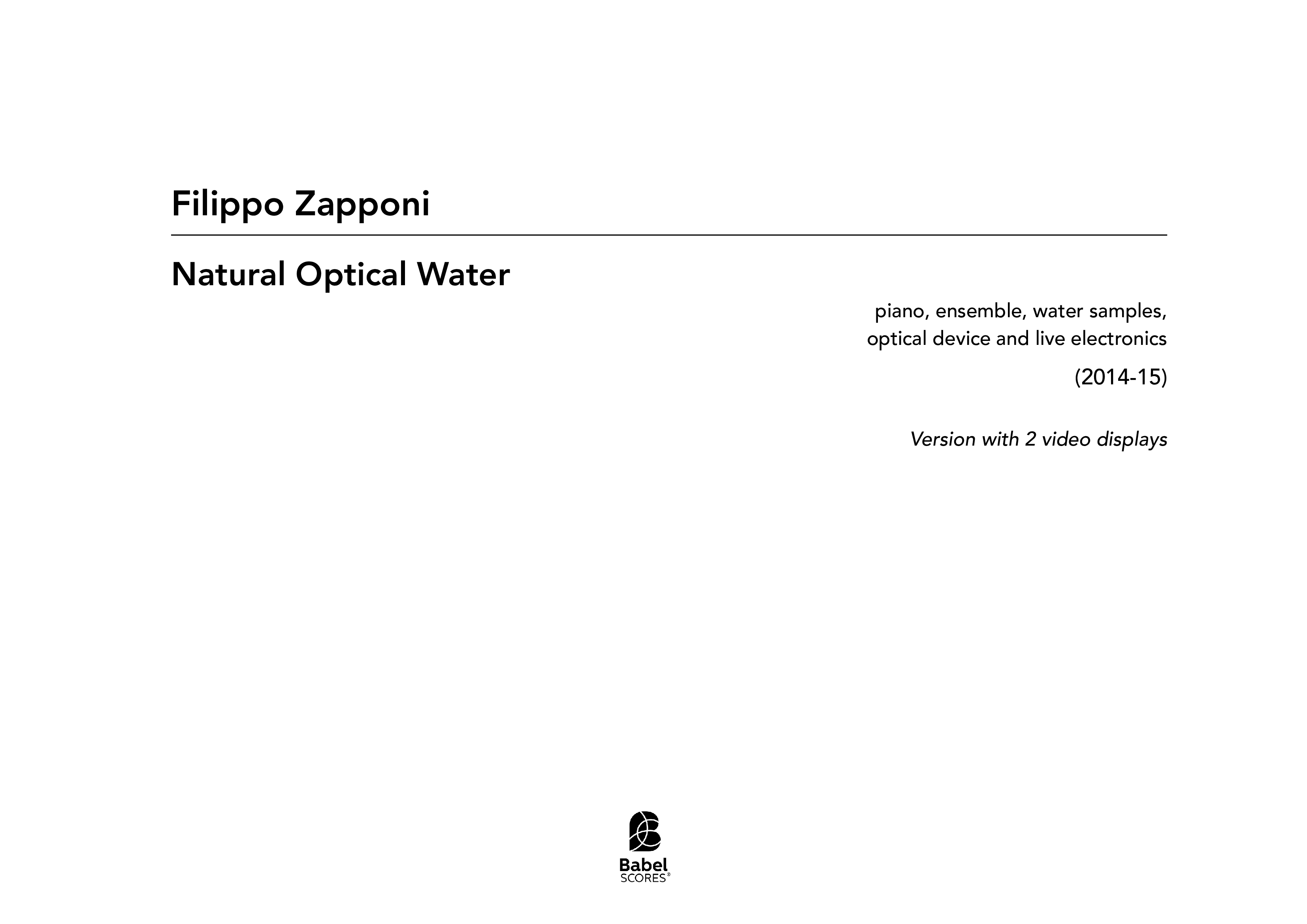 Natural Optical Water A3 z 3 90 1 105