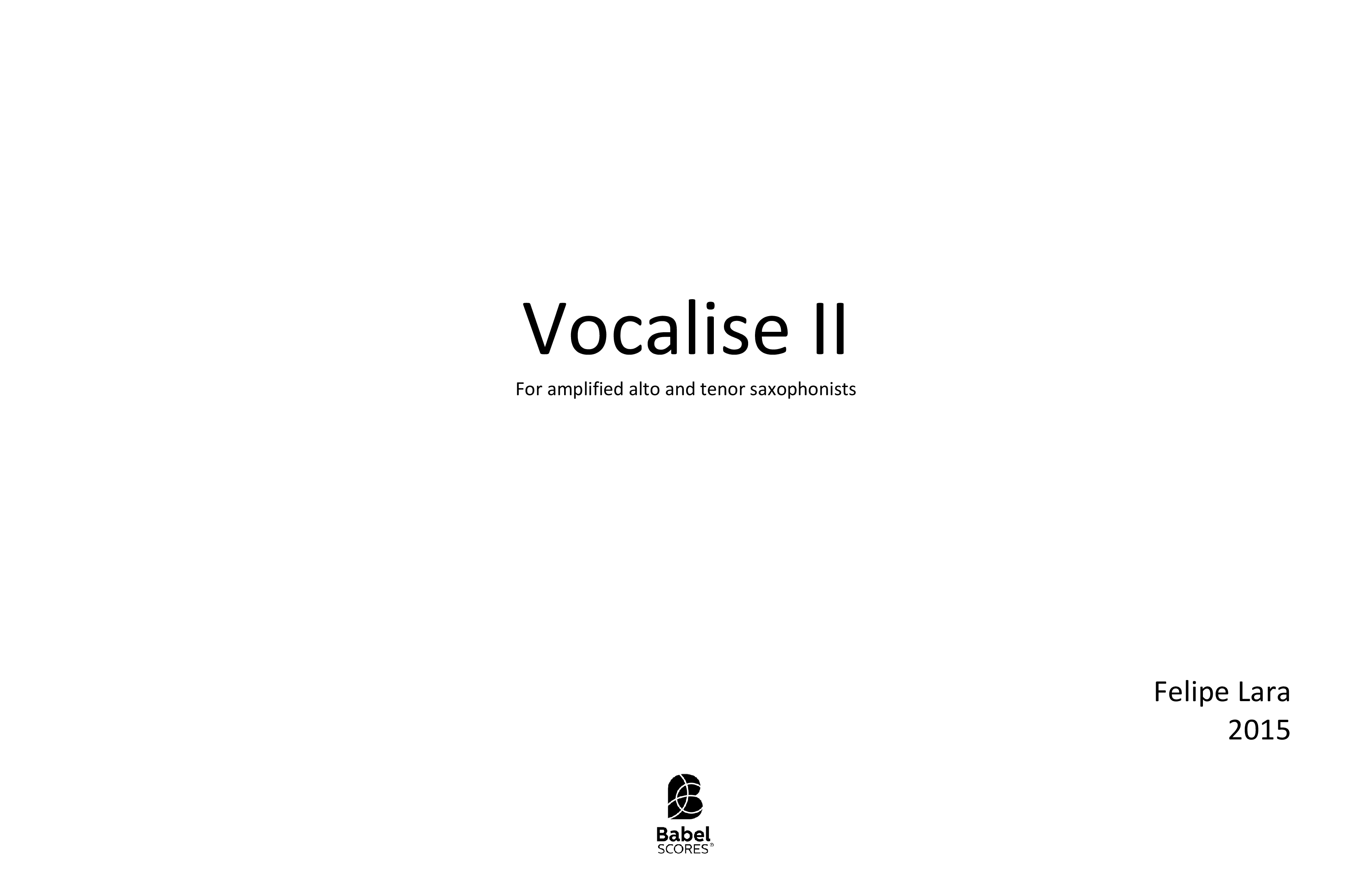 Vocalise II