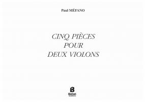 Cinq pièces pour deux violons