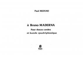 à Bruno Maderna
