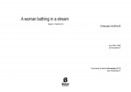 A WOMAN BATHING IN A STREAM z