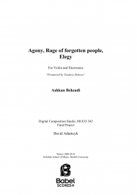 Agony, Rag of Forgotten People, Elegy