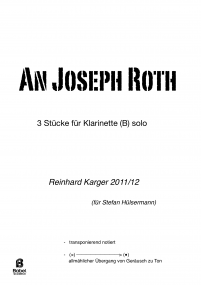 An Joseph Roth (for Clarinet)