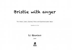Bristle with anger