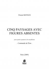 Cinq paysages avec figures absentes