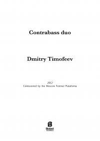 Contrabass duo