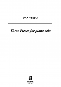 Three pieces for piano solo image