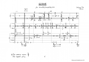 Gigue for cl trp and piano 2012 z 8