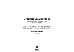 Gregarious Machines image