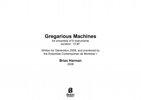Gregarious Machines