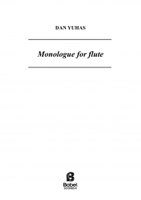 Monologue for flute