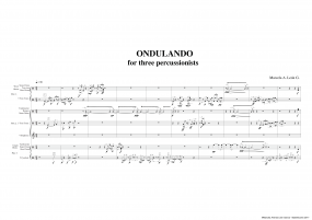 Ondulando for three percussionists A3 z 3 271 9 137