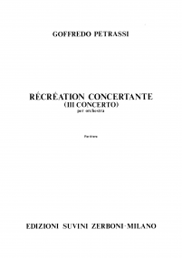 RECREATION CONCERTANTE (Terzo Concerto)