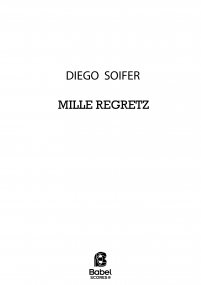 SOIFER Mille regretz Full SCORE z