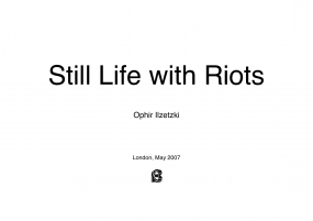 Still life with riots image