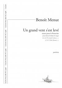 Un grand vent s est leve Version Choeur orgue MENUT Benoit A4 z