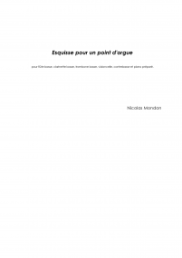 Esquisse pour un point d'orgue