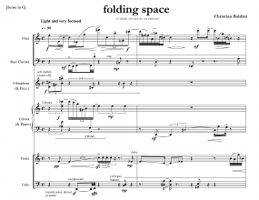 folding space full score Baldini 8
