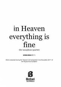 In Heaven Everything is Fine