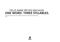 One word. Three syllables. image