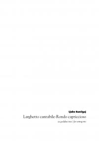 Larghetto cantabile-Rondo capriccioso