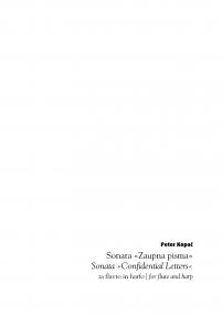 Sonata »Confidential Letters«