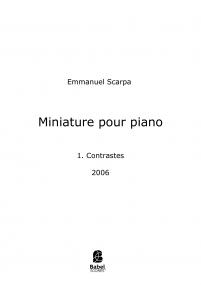 Miniature pour piano
