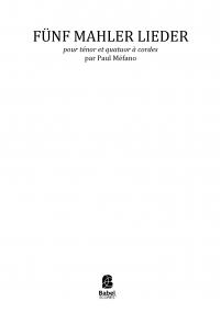 Fünf Mahler Lieder par Méfano